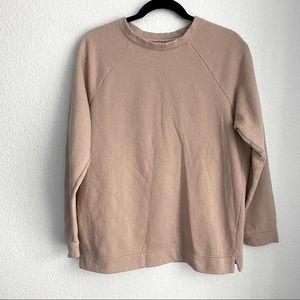 Urban outfitters pale pink crew neck